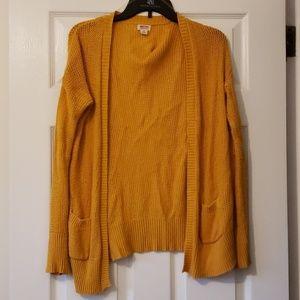 Mossimo Mustard Knit Cardigan